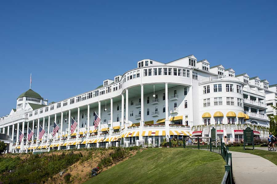 Picture of the Grand Hotel, the iconic property on Mackinac Island.