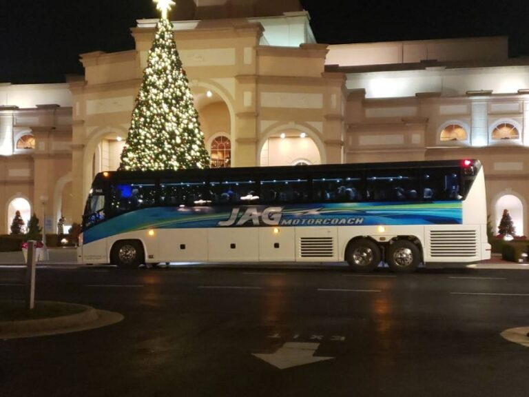 picture of a Jag motorcoach in front of a theater in Branson, Misouri